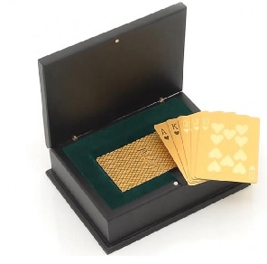 gold dipped poker cards