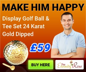 anniversary gold golf ball